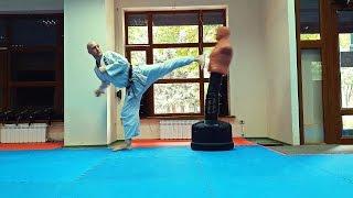 Уширо гери. Martial arts. Каратэ клуб СКИФ/Karate club SKIF.