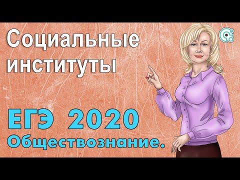 ЕГЭ по обществознанию 2020. Социальные институты.