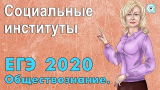 ЕГЭ по обществознанию 2019. Социальные институты.