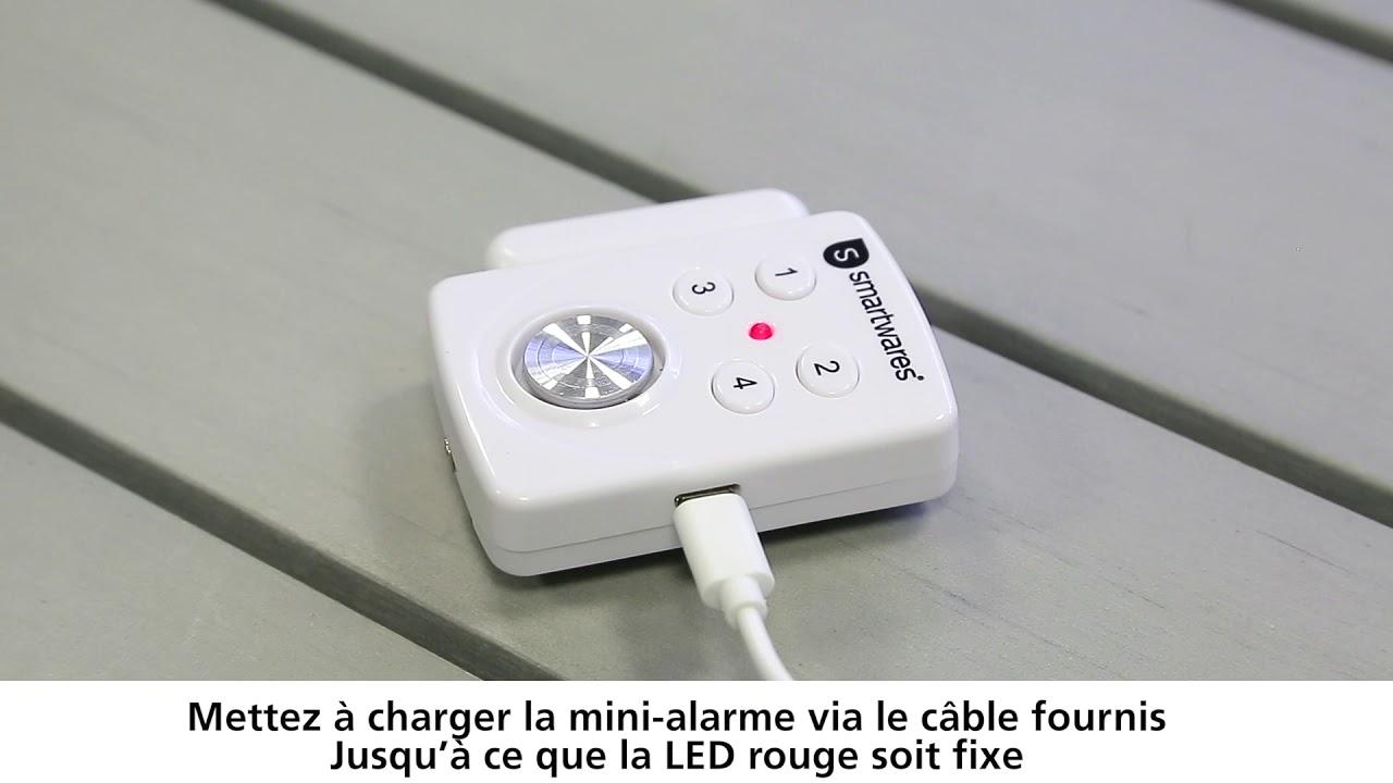 Installer La Mini Alarme Pour Porte Et Fenêtre à Code Smartwares Sc33fr