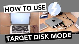 USING TARGET DISK MODE Mac