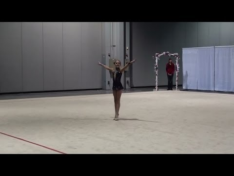 Rhythmic Gymnastics - Jourdan Level 6 Floor Routine   Paws For A Cause Invitational 2014