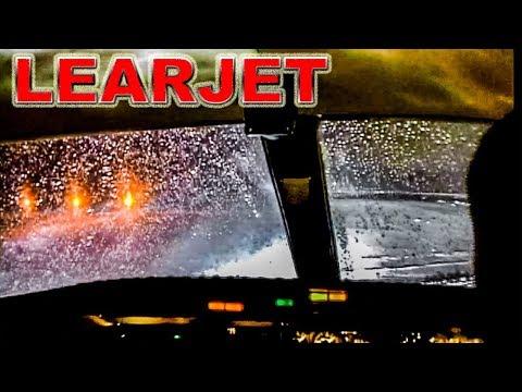LEARJET 24 Taking Off In Snowstorm