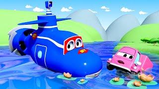 Сьюзи тонет! - Трансформер Карл в Автомобильный Город 🚚 ⍟ детский мультфильм