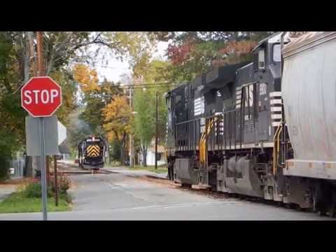 Norfolk Southern LA&L Street running Chemung St, new exchange