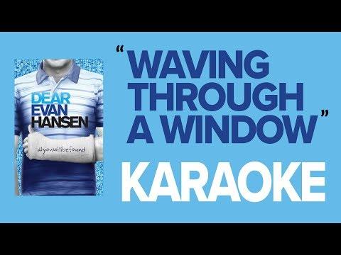 Waving Through a Window | KARAOKE Instrumental (w/ Backing Vocals & Lyrics) - Dear Evan Hansen