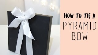 V型蝴蝶結綁法教學, how to tie a pyramid bow