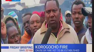 Property destroyed by fire in Korogocho