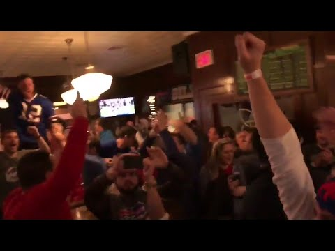 Compilation of Bills Fans Reactions to Going to Playoffs For First Time Since 1999