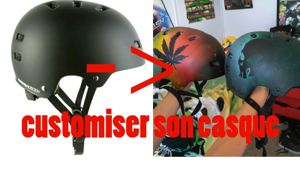 Tuto Comment Customiser Son Casque De Bmx à Laérographe Youtube