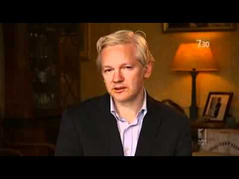 Julian Assange talks to 7.30