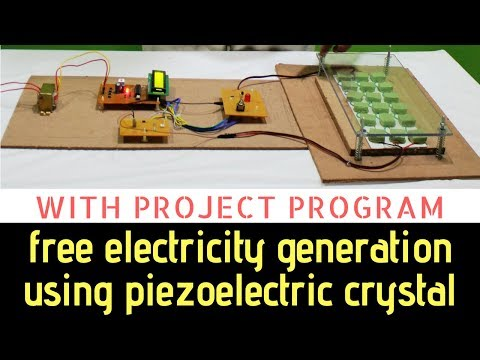 Free electricity generation using piezoelectric crystal by pressure [ with code and working ]