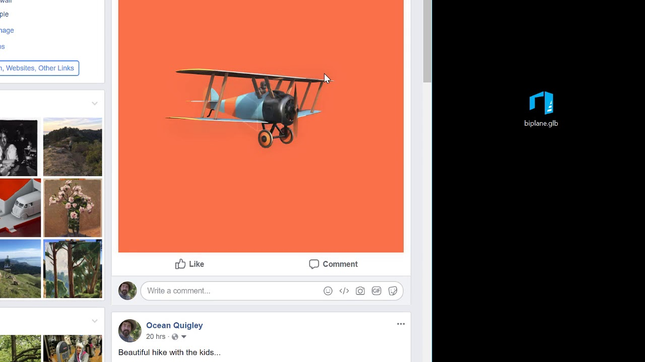 Facebook 3D Posts demo - YouTube