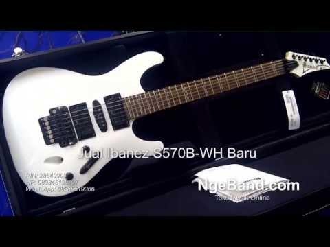 Gitar Ibanez S570B-WH Indonesia - NgeBand[dot]Com