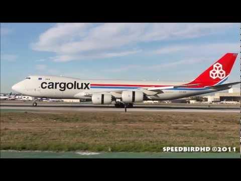 Cargolux Airlines International Boeing 747-8R7F [LX-VCB] Landing in Los Angeles