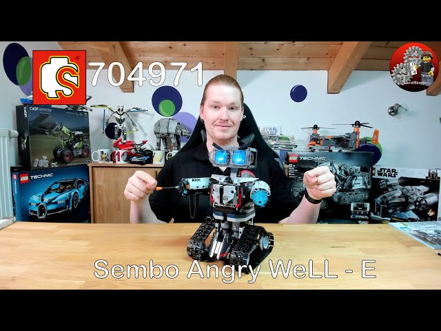 Achtung: Angry WeLL•E | Review : Sembo® 704971 Technic WeLL•E von NEWRICE | Lego® Alternative