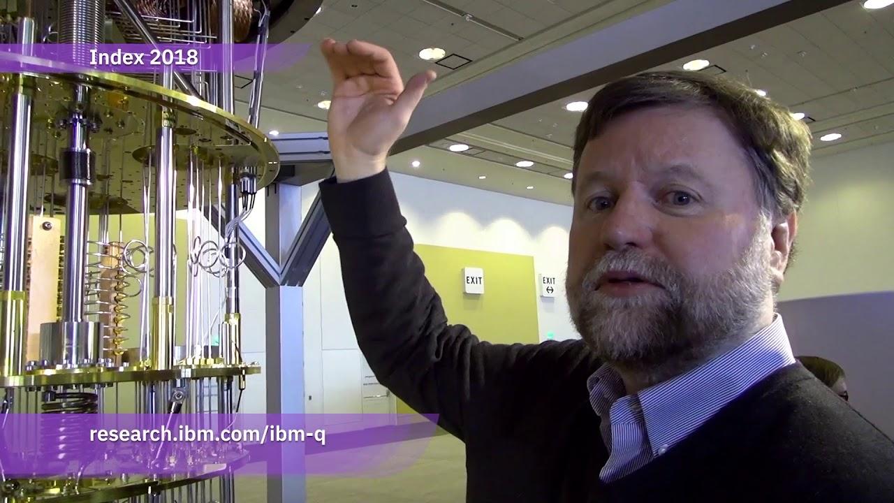 Bob Sutor demonstrates the IBM Q quantum computer