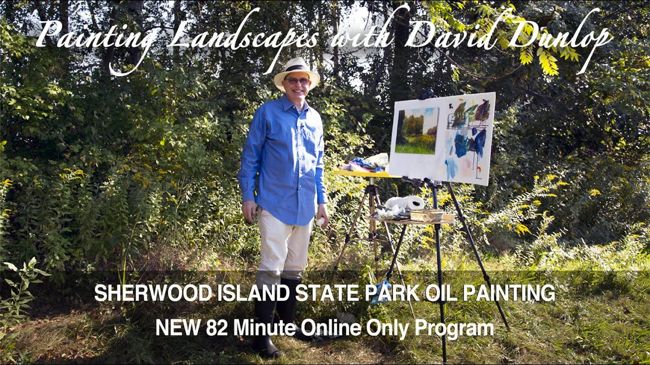 Painting Landscapes with David Dunlop Trailer of Oil Painting at Sherwood Island State Park Program