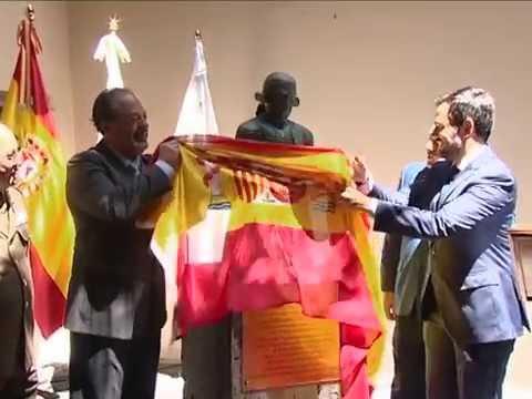 Descubrimiento del busto en honor al Teniente General Matías de Gálvez