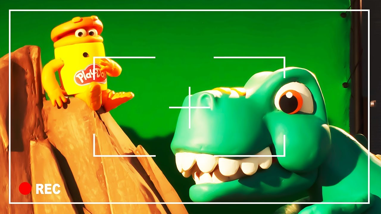 T-Rex Gets Slimed ? Lava Bones ? The Play-Doh Show Season 2   Play-Doh Official