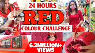 I Used Only RED Things For 24 Hours ❤ Valentine's Day Special