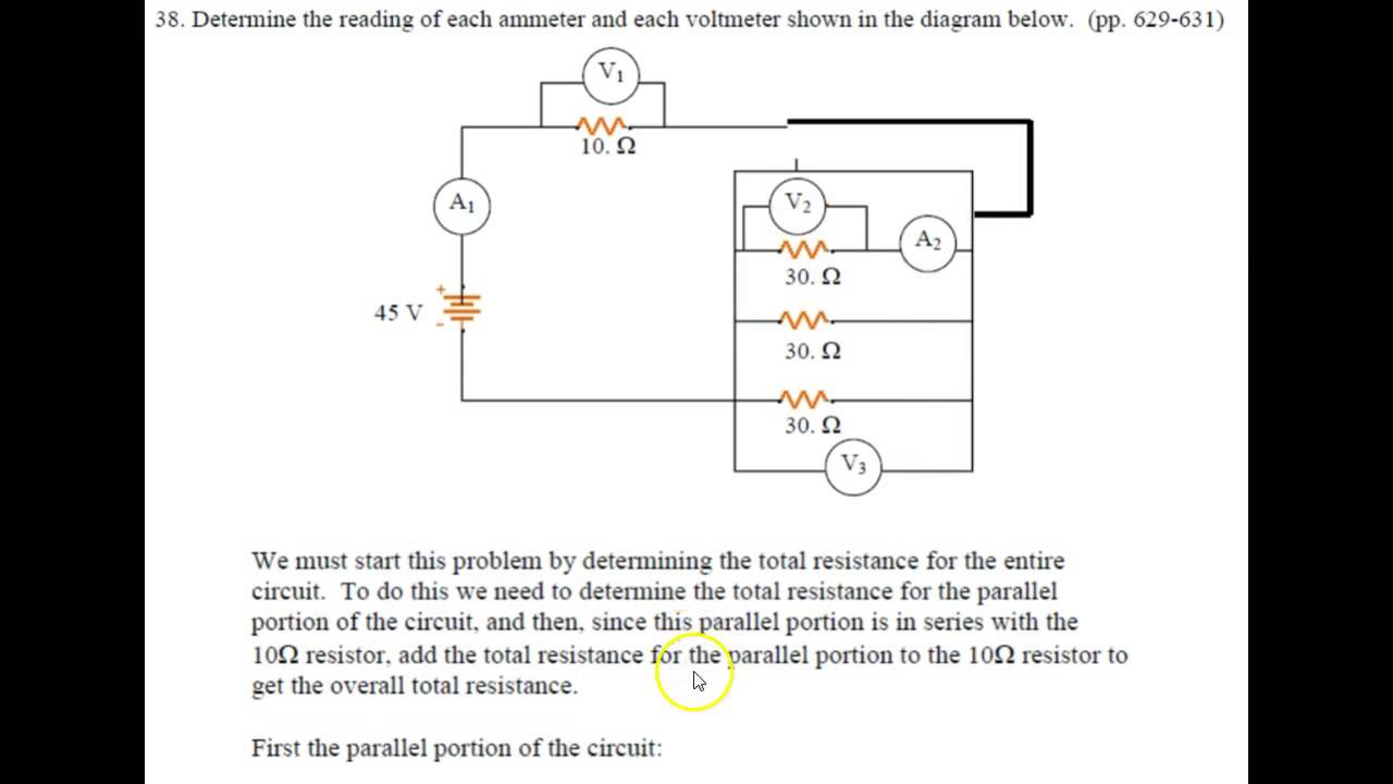 Regents Physics Current Electricity Problem Set 37 40 Youtube Determine The Total Resistance Of Circuit Below Its Uninterrupted