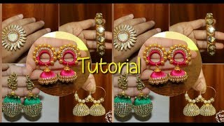 5 Designer Silk Thread Jewelry Making/Bangle/Earrings/Ring making in a easy way..