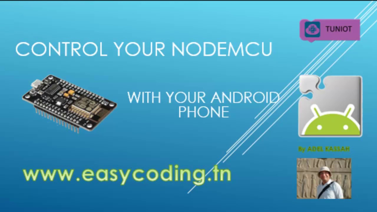 NodeMcu (ESP8266) Tutorial 29: Control ESP8266 with your Android App