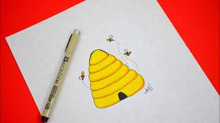 How to Draw a Beehive | ColorFUN Classroom