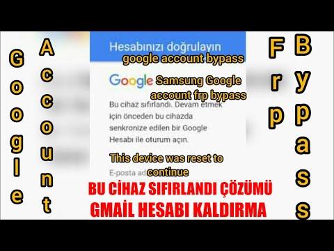 Bu cihaz sıfırlandı - Gmail hesabı kaldırma- google hesabı nasıl kaldırılır
