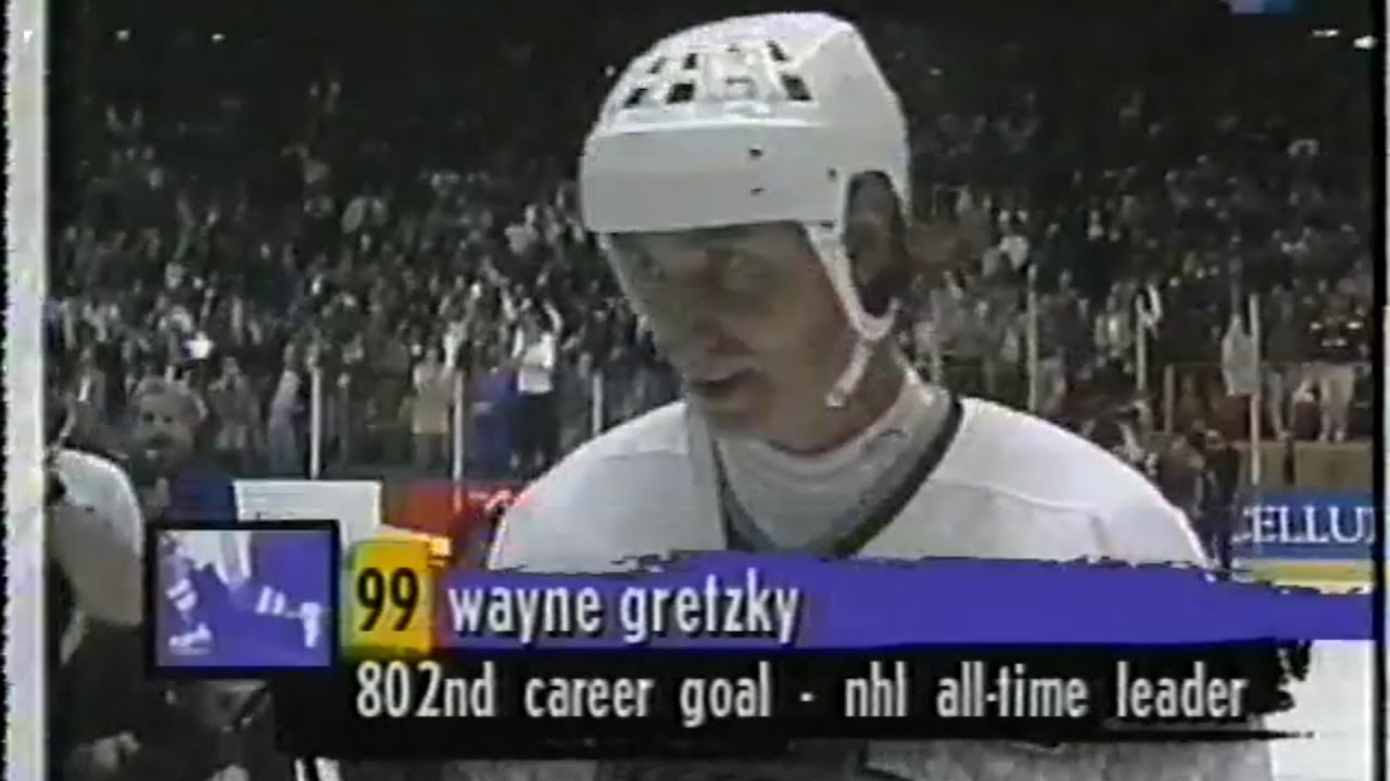 Classic: Canucks @ Kings 03/23/1994 | Gretzky Passes Gordie Howe in Goals Full Shift & Interviews