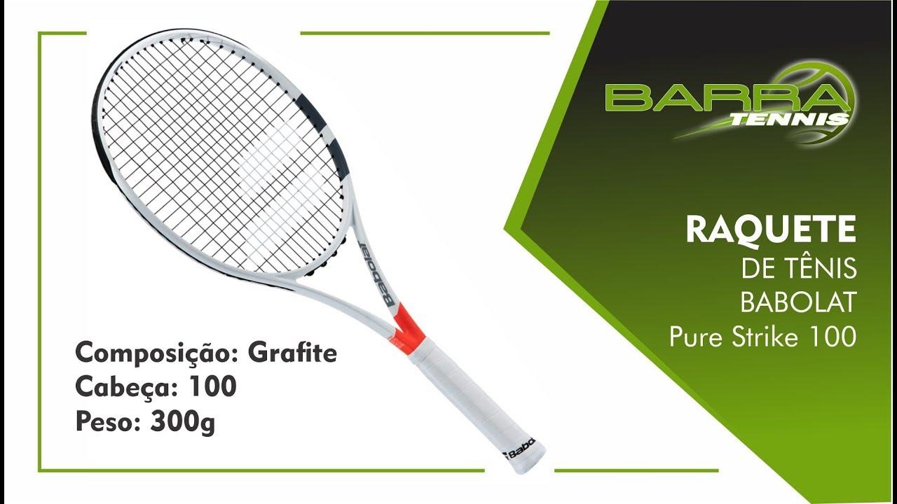 4706ae219 Raquete de Tênis Babolat Pure Strike 100 Loja de Esporte Barra Tennis