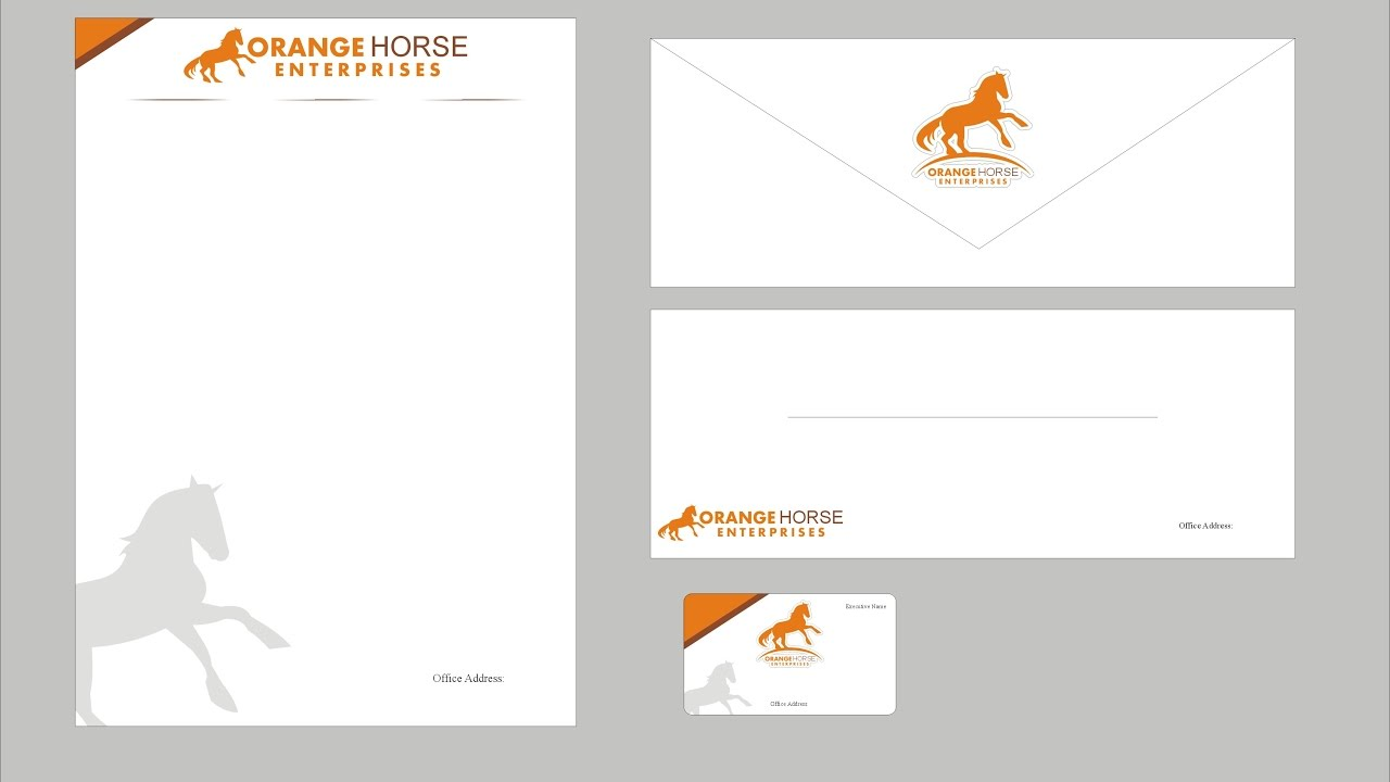 how to make beautiful letterhead , business card and envelope in ...