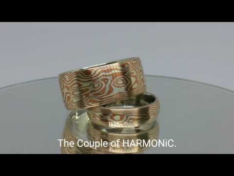 The Couple of HARMONiC Mokume Gane rings