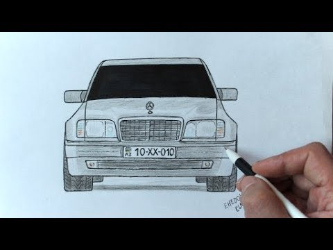 Как нарисовать машину Мерседес Бенц