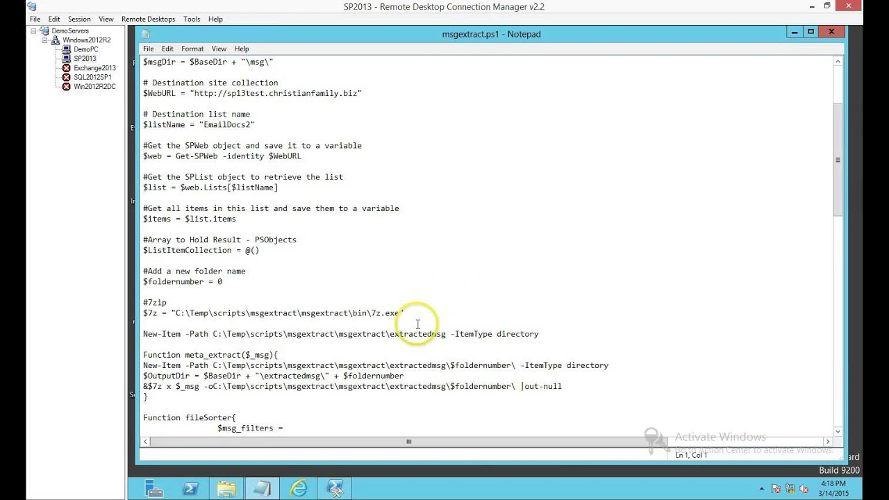 PowerShell to extract Metadata from MSG Files
