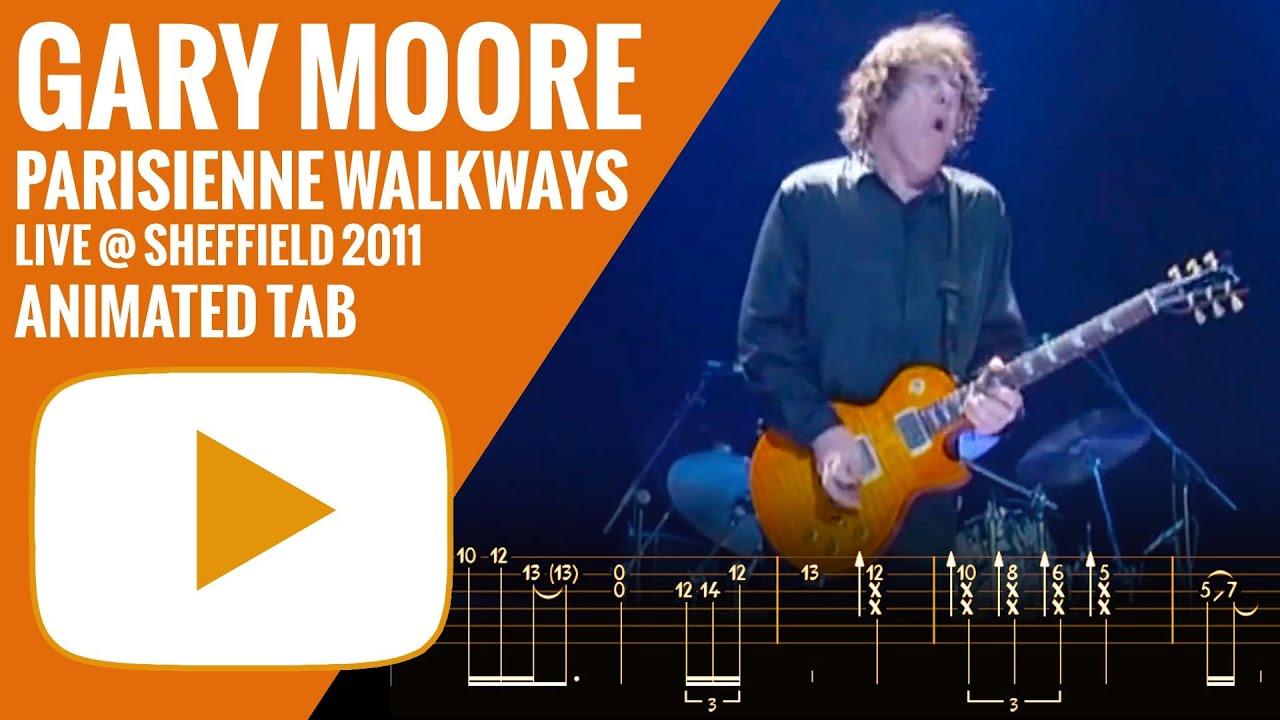 Gary Moore Parisienne Walkways Animated Tab Youtube