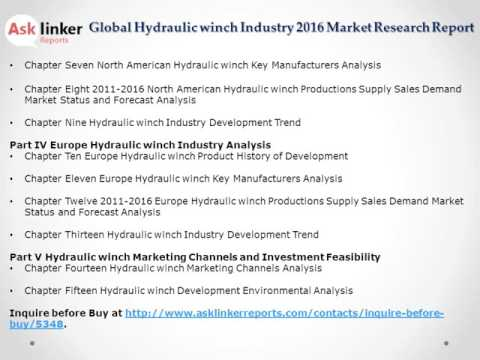 Global Hydraulic winch Market Analysis and Forecasts New Research Report 2016