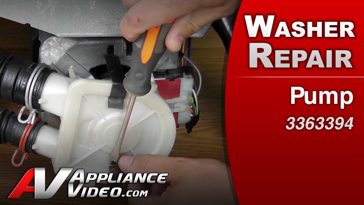 Washer Repair Whirlpool Maytag Roper Pump Replacement
