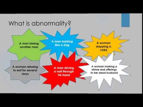 Abnormal Psychology Unit 1 Lecture 1
