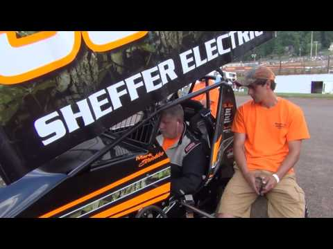 Lincoln Speedway 410 and 358 Sprint Car Highlights 07-09-16