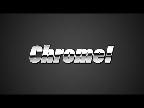 Photoshop Tutorial Chrome Text Effect thumbnail