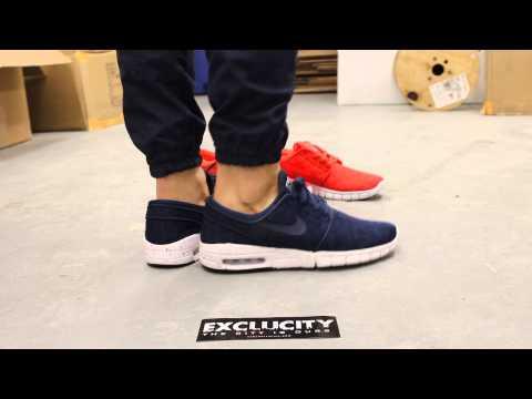 "Nike SB Stefan Janoski Max ""Midnight Navy"" On-feet Video At Exclucity"