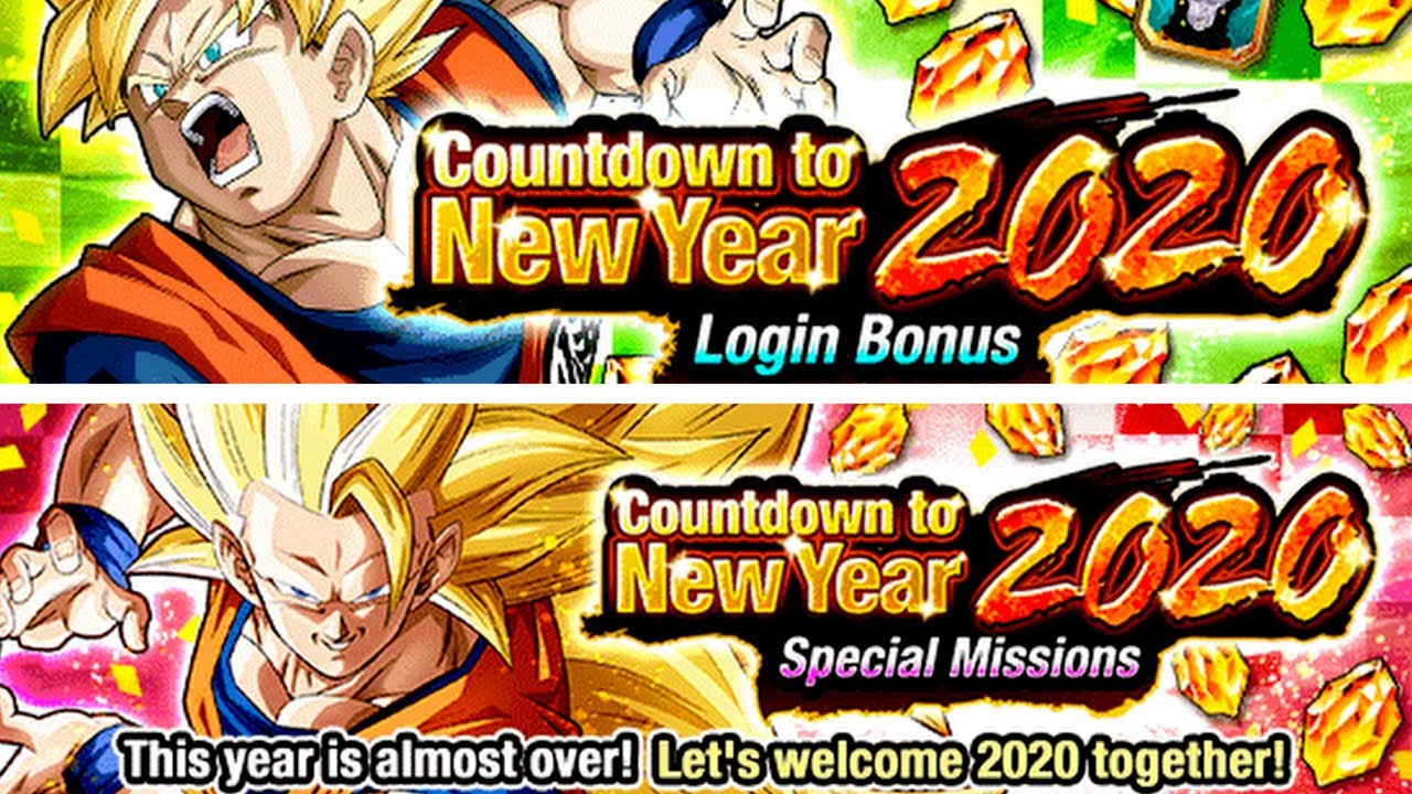Here We Go The 2020 New Years Countdown Campaign Begins Dragon Ball Z Dokkan Battle Youtube