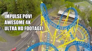 Impulse Roller Coaster POV AWESOME 4K Footage - Knoebels Amusement Park