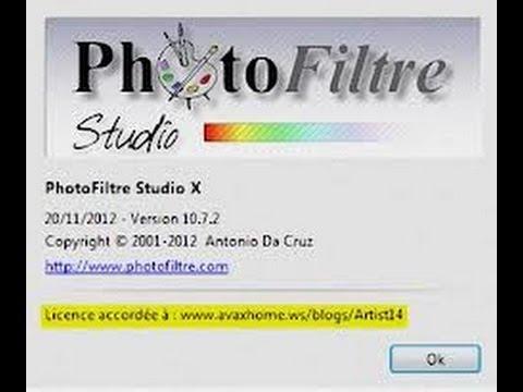 PHOTOFILTRE GRATUIT TÉLÉCHARGER COMPLET X 2012 STUDIO
