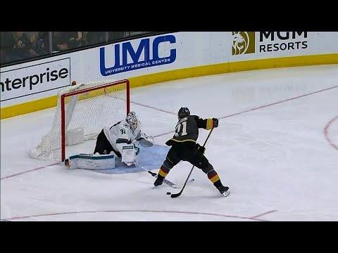 Karlsson goes between-the-legs shorthanded on Jones