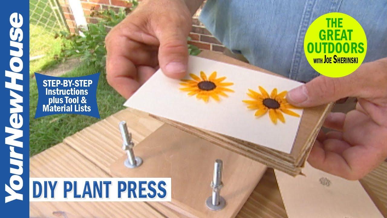 Diy Plant Press Youtube