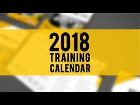 2018 training calendar youtube. Black Bedroom Furniture Sets. Home Design Ideas