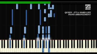 QUEEN - IT'S A HARD LIFE - PIANO COVER (SYNTHESIA)